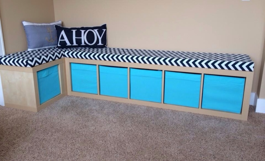 DIY Playroom Bench